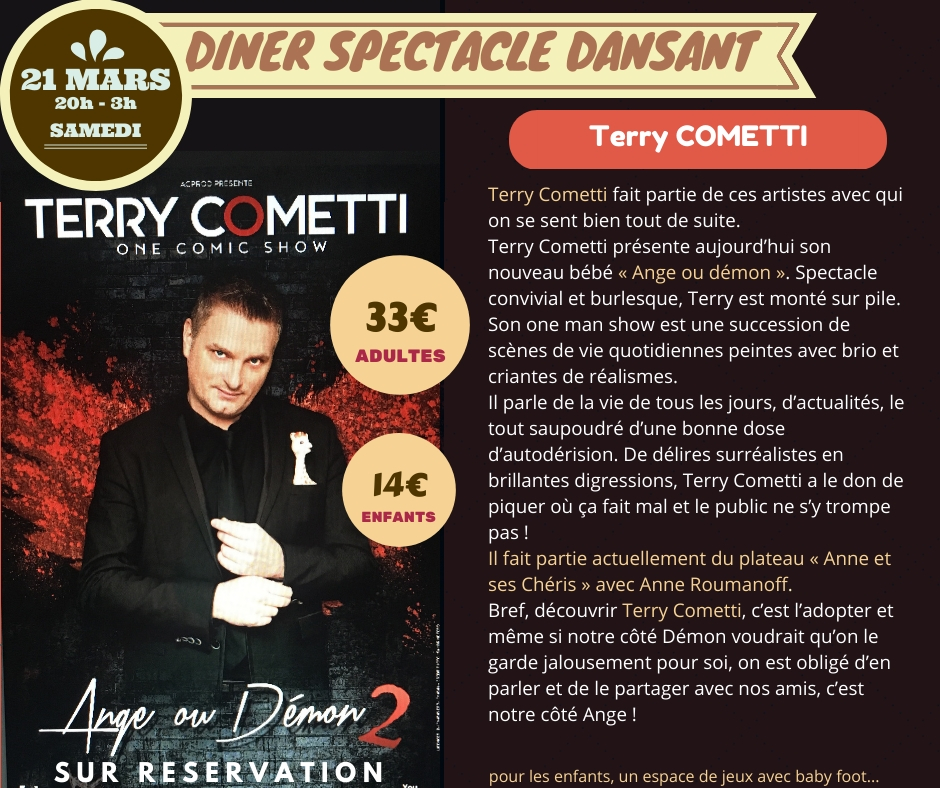 Copy of DINER SPECTACLE TERRY COMETTI