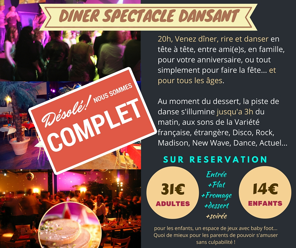 DINER SPECTACLE COMPLET