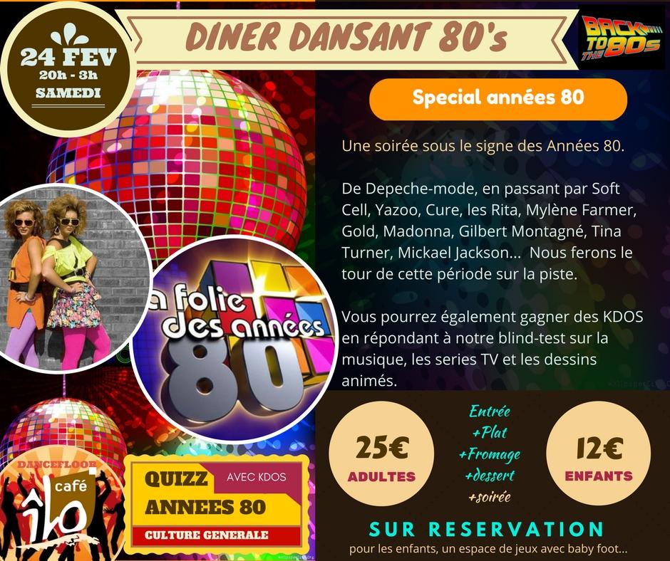 diner dansant années 80